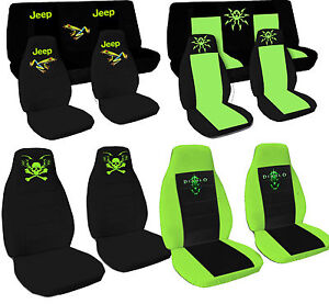 Cc Car Seat Covers Jeep Wrangler Yj Or Tj Black Pink