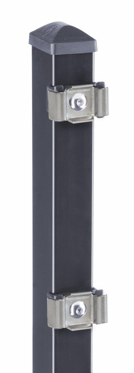 Metallzaun Gitterstab Doppelstab Matte MICHL LxH 14 m x 100 cm Anthrazitgrau