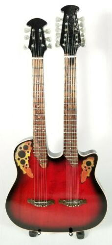Bon Jovi Richie Sambora Miniature Tribute Dual Neck Guitar with Stand - JOVI4