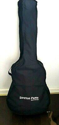 Stretton Payne LEFT HANDED D1 Acoustic Guitar Package, Steel String, Black