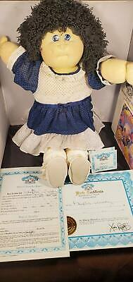 1988 Cabbage Patch Soft Sculpture Aquamarine Hand Signed Phyllis Wendy