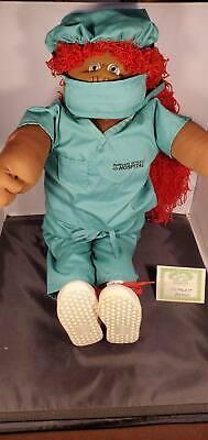 "1989 Cabbage Patch Kids Jade 1/3000 Soft Sculpture 22"" Nurse African AA Rare!"