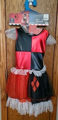 Dc Harley Quinn Child Medium 7-8 Costume Halloween.
