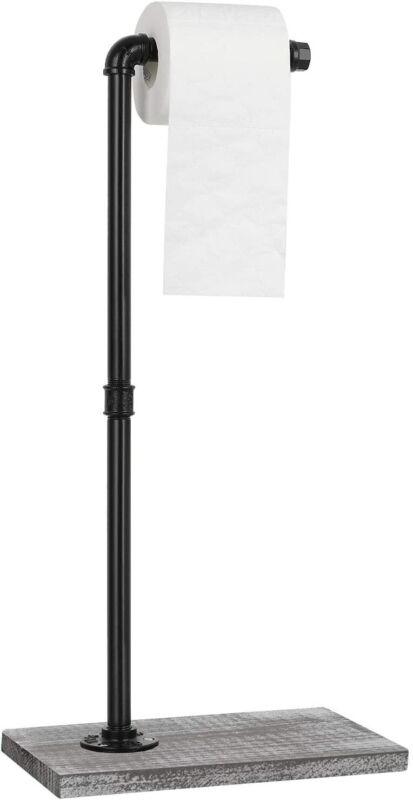 Free Standing Toilet Paper Holder Stand Reserve Paper Bathroom Storage Dispenser