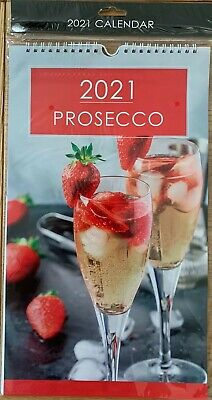 """""""PROSECCO"""" 2021 MONTH TO VIEW CALENDAR WITH POSTAL ENVELOPE"""
