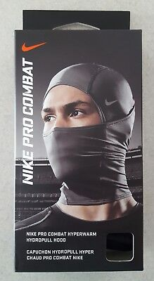 NEW IN BOX Nike Pro Combat Hyperwarm Hydropull Hood BLACK Mask Balaclava Gaiter