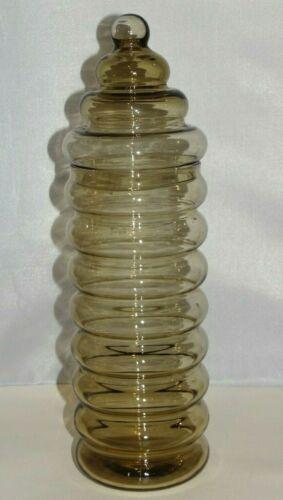 "Vintage Holmegaard JACOB BANG Primula Glass Canister 12.5"" Apothecary Jar"