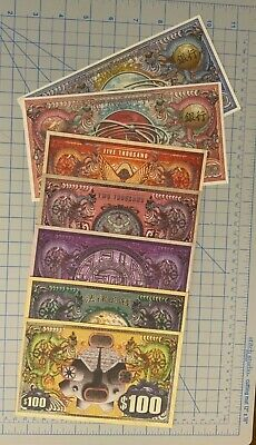 7 Firefly Serenity robbery money and game bank note, new, one of each, Loot Crat