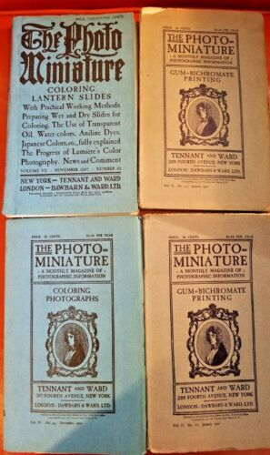 The Photo Miniature (4) Volumes, vintage magazines, 1901-1907 , Tennant and Ward