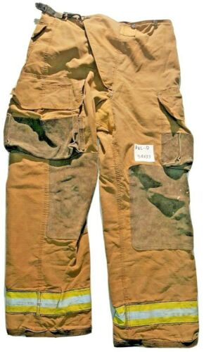 38x33 Globe Brown Firefighter Turn Out Pants with No Liner PNL-12