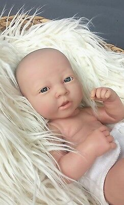 """Realistic 14"""" Berenguer Newborn Baby Doll ~ Blue Eyes ~ Outie ~ Marked 22-07"""