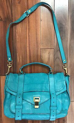Proenza Schouler PS1 Turquoise Teal Blue Purse Bag