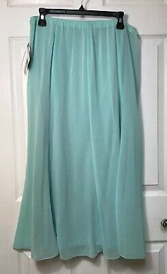Alex Evenings Mint Green Womens Plus Size 1X, A-Line Skirt Elastic Waist $69 NWT