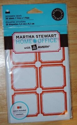 Martha Stewart Avery Home Office Removable Red Labels 1-34 X 1-58