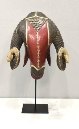 Mask African Baule Red Ram Mask