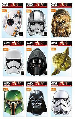 Offizieller Star Wars 2d Karte Party Masken Maske Menge (Star Wars Kostüme Buch)
