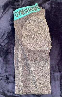 Gym Shark Flex Leggings (Size XS) CHARCOAL MARL/DUSKY TEAL