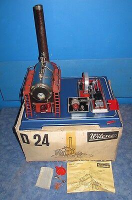 70er Jahre Wilesco D24 XXL Dampfmaschine in OVP #
