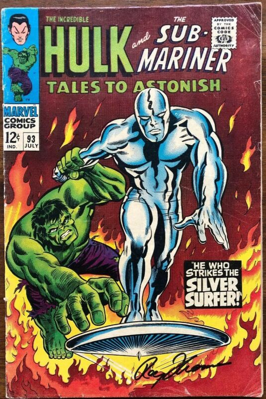 Tales To Astonish 93 Signed By Roy Thomas Mid Grade!