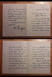Lettera-manoscritta-e-firmata-da-Ruggero-Ruggeri-a-Remigio-Paone-Torino-1939