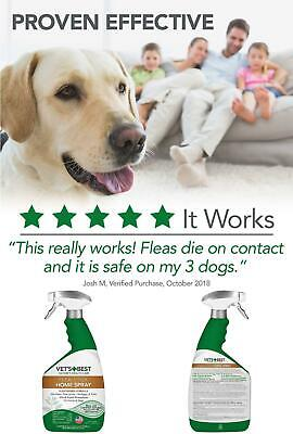 Vets Best Flea & Tick Treatment for Dogs & Home Spray Natural/No Harsh