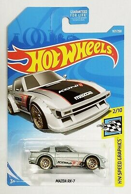 Hot Wheels Mazda RX-7 KONI Speed Graphics 2/10 #167/250 Tampo Error