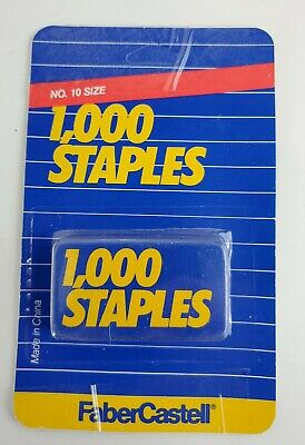 One 1 Box Of 1000 Staples By Faber-castelll No.10 Size For Mini Stapler - Nip