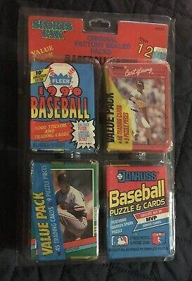 VINTAGE 1990 SPORTS PAK BASEBALL CARD VALUE PACK 1990 Donruss 1991 - 1990 Baseball Card Values