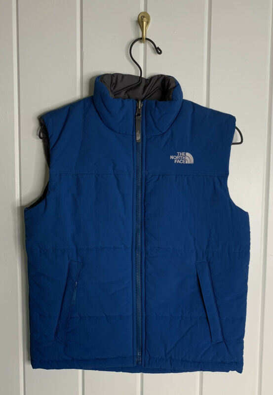 The North Face Boys Teal Quilted Insulated Full Zip Vest Size Medium 10/12