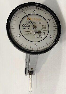 Mitutoyo 513-442 Truetest Dial Test Indicator .060 Range .0005 Graduation