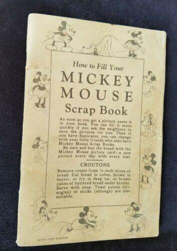 Old Mickey Mouse Scrap Book Walt Disney Enterprises Recipes Great Illustrations