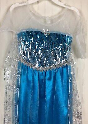 Girls Princess Elsa Frozen Dress Size Medium Miss - Elsa Kostüm Medium