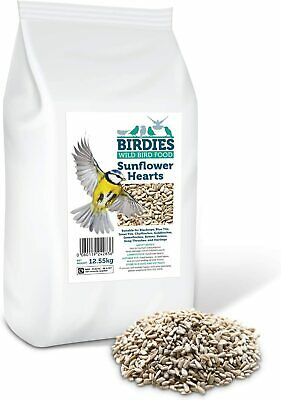 Birdies Sunflower Hearts- Bird Seed for Wild Birds -12.55kg Premium Husk Free Ba