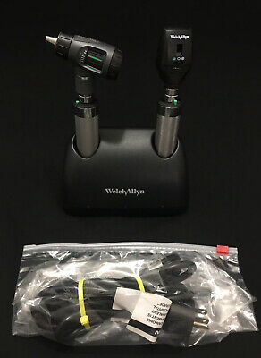 Welch Allyn Ni-cad Desk Charger Otoscope Ophthalmoscope Medical Set