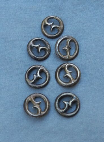 Old Vintage Native American Silver Cast Buttons ~ Rare