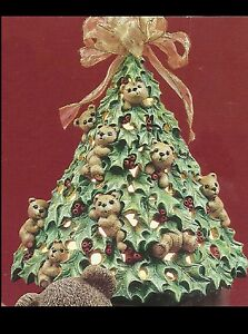 Details about ceramic bisque holly bear christmas tree u paint