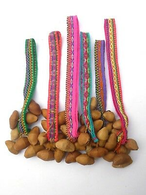 Seed Wrist Ankle Dance Rattler Shaman Maraca Pack 6 Resale Pack Primitive - Wholesale Maracas