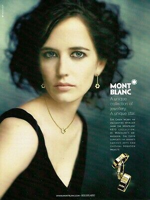 Eva Green Mont Blanc Jewelry Magazine Print Ad Original vintage 2008 Rare Advert