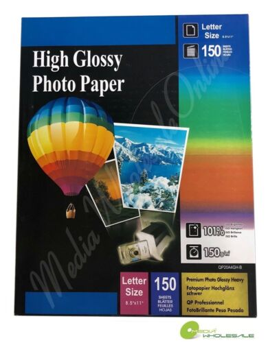 """150 Sheets High Premium Glossy Inkjet Photo Paper 8.5""""x11"""" Letter Size - 150gsm"""