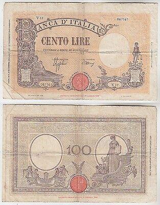 100 Lire Banknote Italien 7 Dezember 1942 (115207)