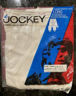 VTG Jockey Thermal Underwear NOS Long Johns Suprel Therma-Knit White 34 LONG -