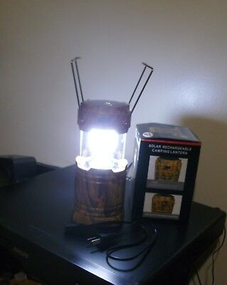 Solar Rechargeable Lantern Camping Hunting Hurricane power outage bug out