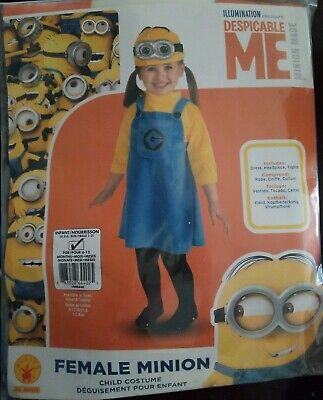 Despicable Me Minion Girls Infant Costume, dress, tights, headpiece](Minion Infant Costume)