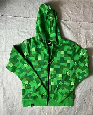Boys Minecraft Jinx designed Creeper Zip-Up Hoodie Youth - Minecraft Hoodie Youth