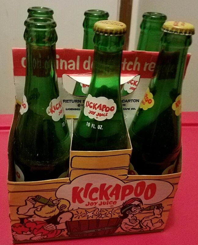 Vintage KICKAPOO Joy Juice Bottles 6-Pack