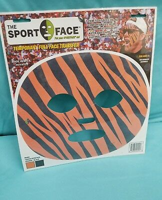THE HALLOWEEN SPORT FACE, THE GAME FACE CO. # 0402 TEMPORARY FULL FACE TRANSFER ](Halloween Face Transfers)