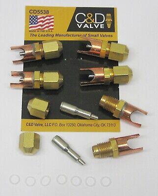 Cd Braze-on Self-piercing Copper Saddle Valve For 38 Tube Cd5538 Package Of 6