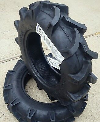 Two 8-16 8x16 Crop-max R-1 Lug Tractor Tires Heavy Duty 6 Ply Rated Tubeless