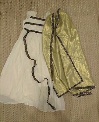 Chasing Fireflies Greek Goddess Halloween Costume Child Size 12 (Orginally $60!)
