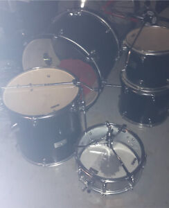 5 piece Matex drum set with high hat, crash ride and double kick